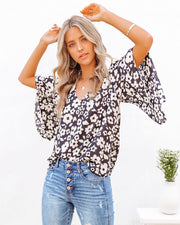 Kalani Floral Bell Sleeve Blouse view 10