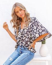 Kalani Floral Bell Sleeve Blouse view 3
