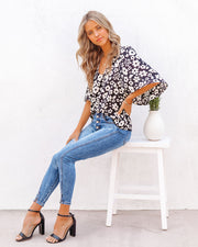 Kalani Floral Bell Sleeve Blouse view 5