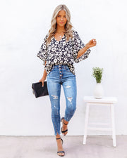 Kalani Floral Bell Sleeve Blouse view 7