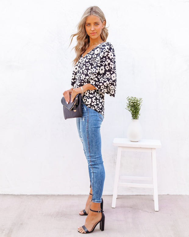 Kalani Floral Bell Sleeve Blouse view 8