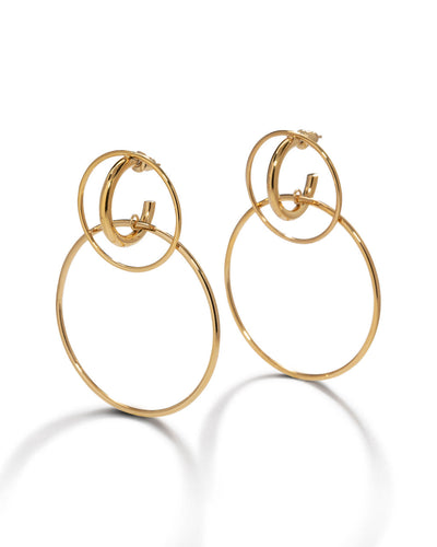 Kara Double Hoop Earrings