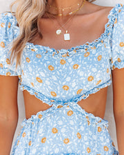 Katya Floral Off The Shoulder Ruffle Cutout Dress view 6