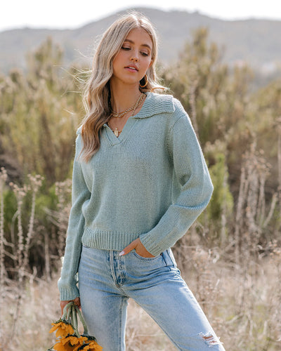 Kent Collared Knit Sweater
