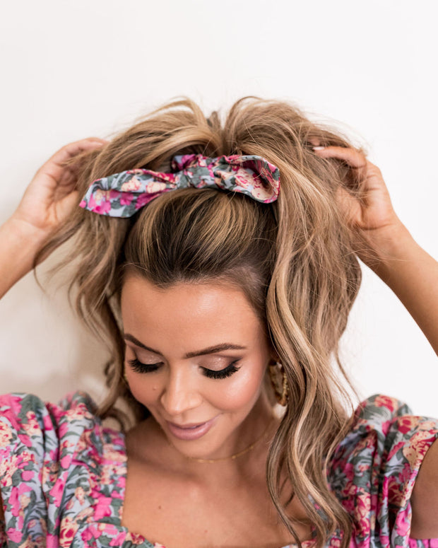 Layton Floral Scrunchie view 1