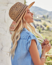 Leone Straw Panama Hat view 4