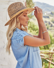 Leone Straw Panama Hat view 3
