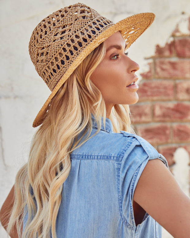 Leone Straw Panama Hat view 1