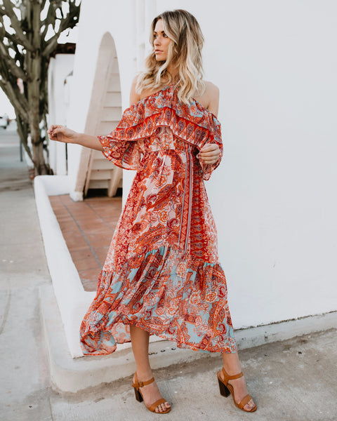 Sevilla Ruffle Maxi Dress