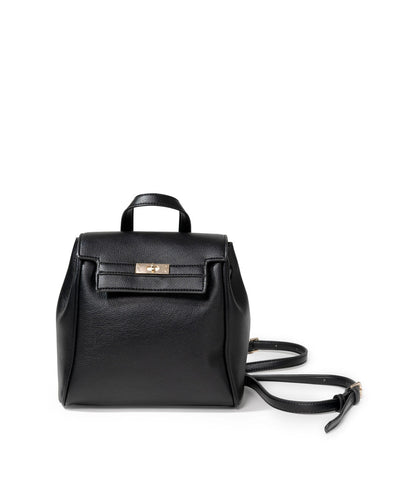 Lainey Faux Leather Backpack - Black