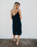 Can't Go Wrong Workday Midi Dress - Navy