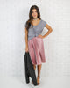 Marilyn Pleated Midi Skirt - Dusty Pink