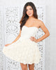 Meringue Rosette Strapless Dress - FINAL SALE