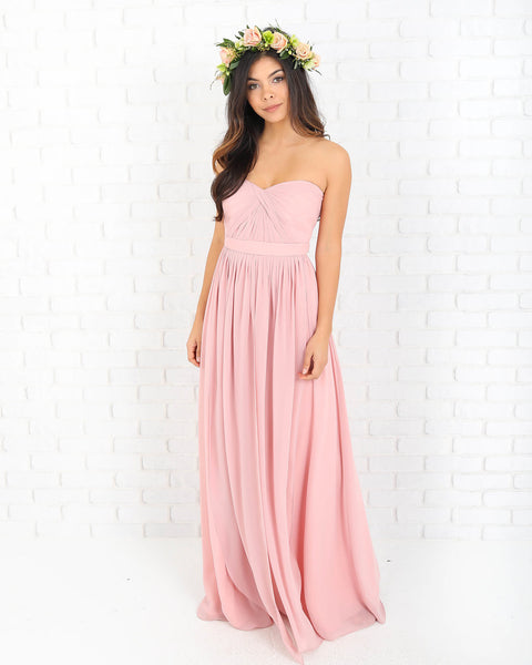 Gwena Strapless Maxi Dress