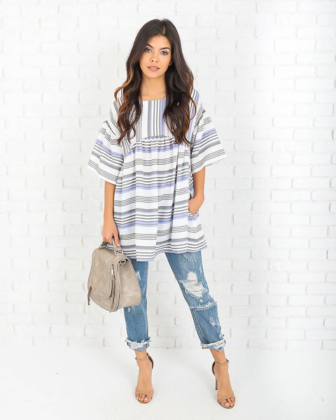 Everette Pocketed Babydoll Tunic - FINAL SALE