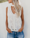 Leviosa Lace Keyhole Tank - FINAL SALE