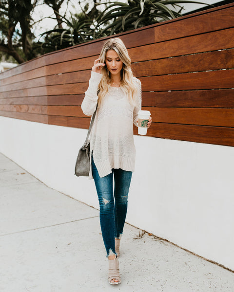 Life's A Journey Knit Sweater   Oatmeal by Vici