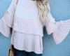 Cleo Pleated Top