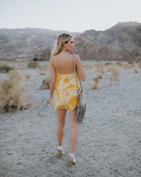 Light My Fire Strapless Tie Dye Romper - FINAL SALE