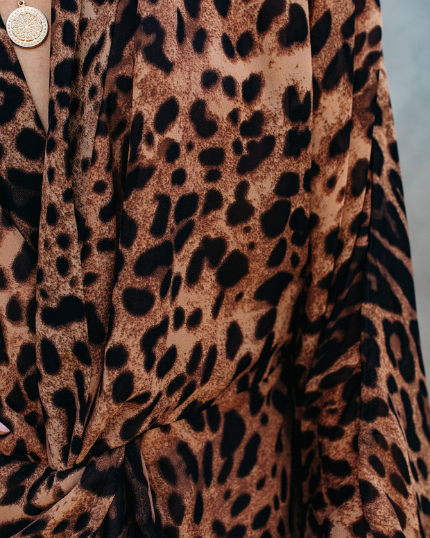 Linwood Leopard Twist Kimono Dress - FINAL SALE