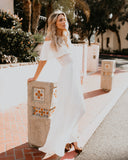 Little Italy Off The Shoulder Maxi Dress - Ivory