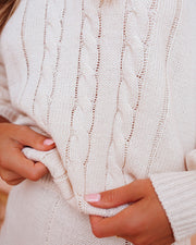 Love At Frost Sight Cable Knit Sweater