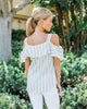Rubie Cold Shoulder Button Up Top