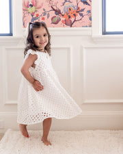 Mini - Hart Cotton Eyelet Babydoll Dress view 5
