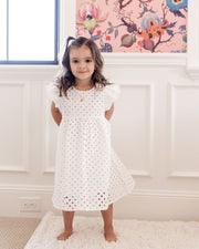 Mini - Hart Cotton Eyelet Babydoll Dress view 10