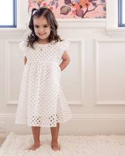 Mini - Hart Cotton Eyelet Babydoll Dress view 7