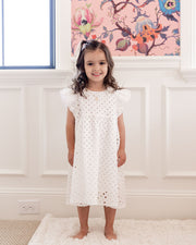 Mini - Hart Cotton Eyelet Babydoll Dress view 1