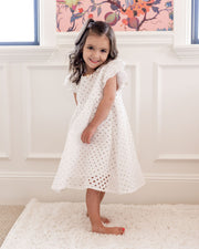 Mini - Hart Cotton Eyelet Babydoll Dress view 8