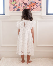 Mini - Hart Cotton Eyelet Babydoll Dress view 2
