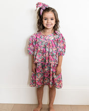 Mini - Layton Floral Puff Sleeve Tiered Dress view 11