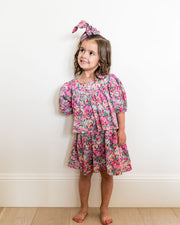 Mini - Layton Floral Puff Sleeve Tiered Dress view 12