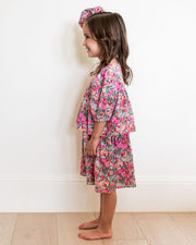 Mini - Layton Floral Puff Sleeve Tiered Dress view 10