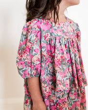 Mini - Layton Floral Puff Sleeve Tiered Dress view 4