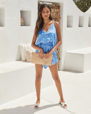 Mykonos Printed Satin Shorts view 9