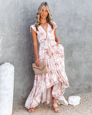 Made Of Sun High Low Pocketed Tie Maxi Dress view 1