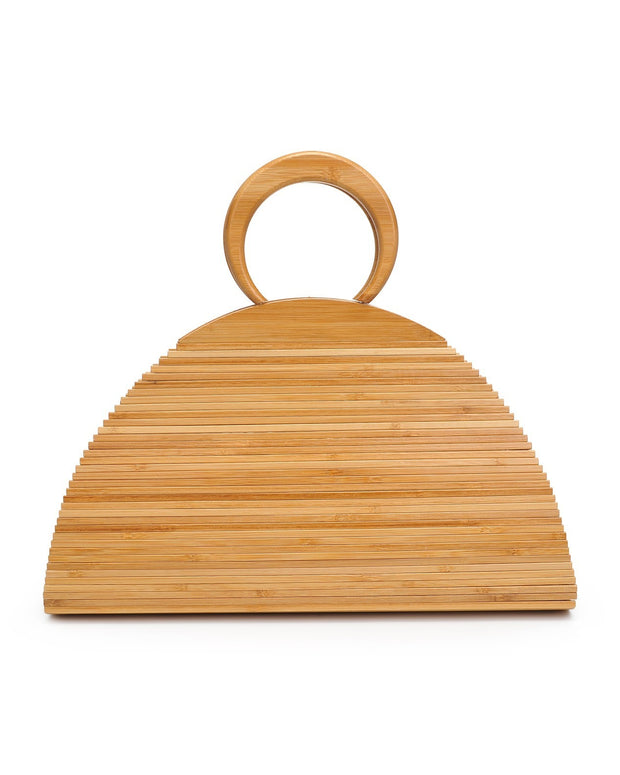 Maldives Wooden Handbag - Natural view 3