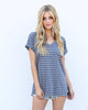 Hayes Striped Tee - Grey