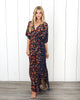 Summer Shadows Kimono Maxi Dress