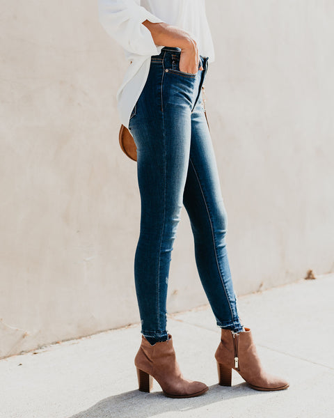 Medina Distressed High Waisted Skinny