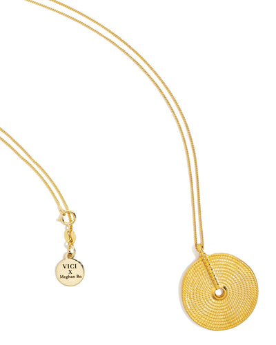 Meghan Bo Designs - Weave Coin Necklace