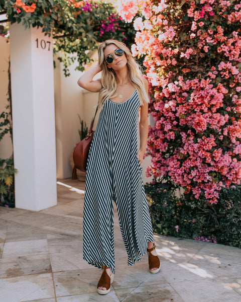 Mesmerizing Striped Pocketed Jumpsuit
