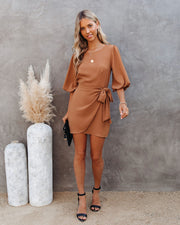 PREORDER - My Honey Tie Dress - Camel