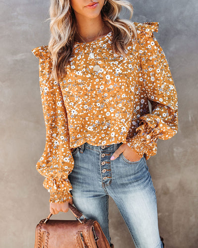 Nassir Floral Ruffle Blouse