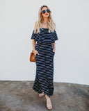 Waterfront Striped Pocketed Maxi Dress - FINAL SALE