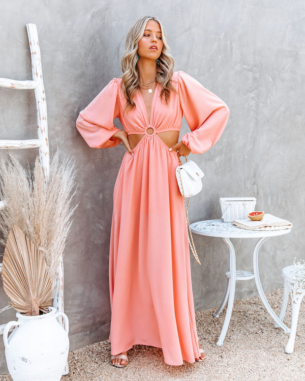 Neoma Cutout Maxi Dress - Bright Blush view 1