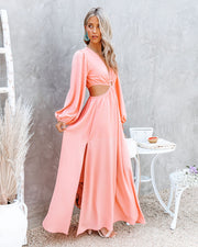 Neoma Cutout Maxi Dress - Bright Blush view 3